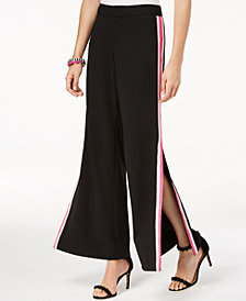 I.N.C. Vented Wide-Leg Pants, Created for Macy's
