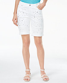 I.N.C. Studded Bermuda Shorts, Created for Macy's