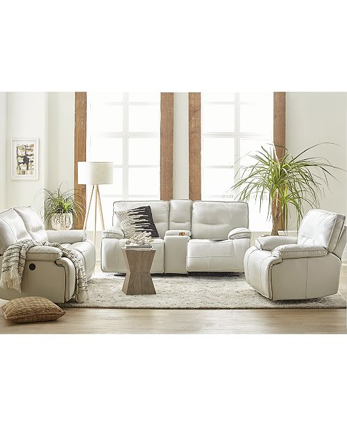 Furniture Mantella Leather Power Reclining Sofa Collection with USB Power Outlet