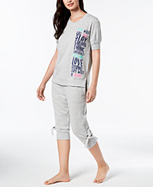 HUE® Short-Sleeve Pajama Top & Jogger Pajama Pants Sleep Separates