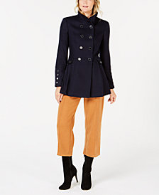 Calvin Klein Double-Breasted Skirted Coat