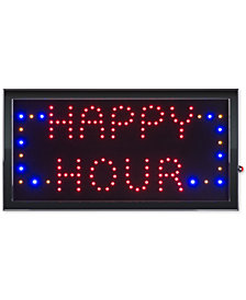 Happy Hour Lighted Neon Electric Display Happy Hour Sign with Animation & Energy Efficient LED