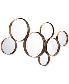 Zuo Teo Circular Gold-Tone Mirror
