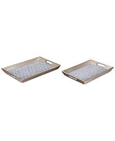 Zuo Cundri 2-Pc. Antique Silver-Tone Tray Set