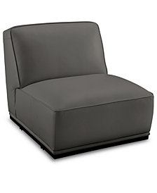 "Zeraga 30"" Leather Armless Chair, Created For Macy's"