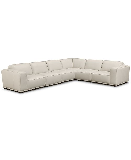 ebec766c2a8 ... Furniture Zeraga 6-Pc. Leather Modular Sectional