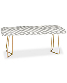 Deny Designs Little Arrow Design Co Watercolor in Grey Bench