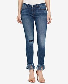 WILLIAM RAST Perfect Skinny Mid-Rise Frayed Hem Jeans