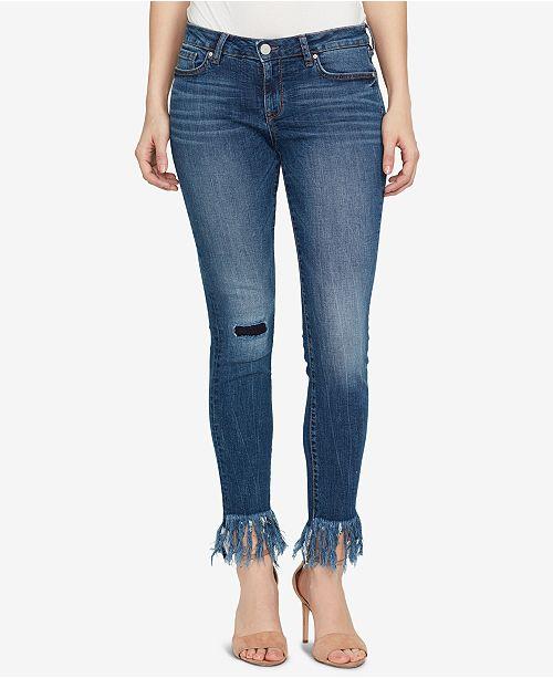 b36eea4ef77 ... WILLIAM RAST Perfect Skinny Mid-Rise Frayed Hem Jeans ...
