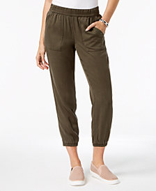 Style & Co Petite Cropped Jogger Pants, Created for Macy's