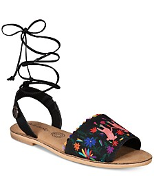 Loly In The Sky Pom Pom Sandals from The Workshop at Macy's