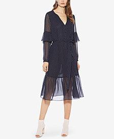Avec Les Filles Dot-Print Belted Dress
