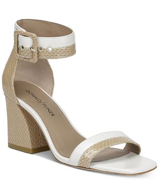 Donald Pliner Donald J. Pliner Watson Slant-Heel Dress Sandals Women's Shoes