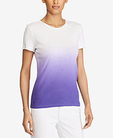 Lauren Ralph Lauren Dip-Dye Cotton T-Shirt