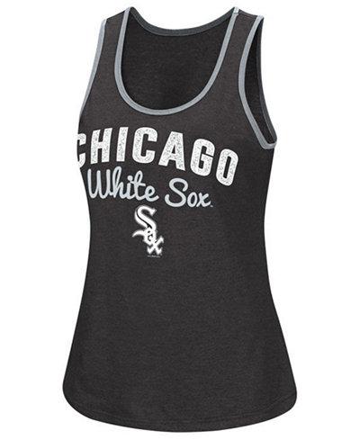 G-III Sports Women's Chicago White Sox Power Punch Glitter Tank