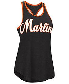 G-III Sports Women's Miami Marlins Oversize Logo Tank