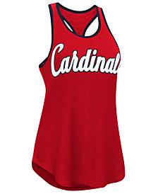 G-III Sports Women's St. Louis Cardinals Oversize Logo Tank