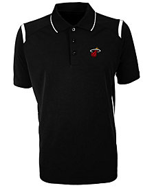 Antigua Men's Miami Heat Merit Polo Shirt