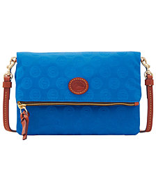 Dooney & Bourke Chicago Cubs Embossed Nylon Foldover CrOSsbody