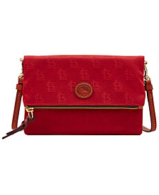 Dooney & Bourke St. Louis Cardinals Embossed Nylon Foldover Crossbody