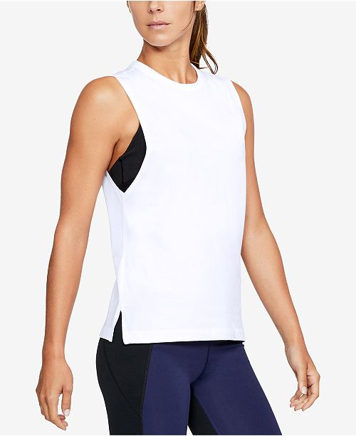 c626d90eb851ac Under Armour Charged Cotton® Tank Top   Reviews - Tops - Women - Macy s