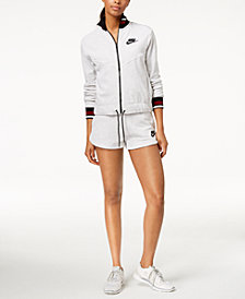 Nike French Terry Jacket & Shorts