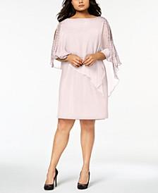 Plus Size Beaded Chiffon Popover Dress