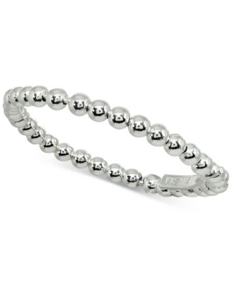 Beaded Stackable Band in Sterling Silver, Created for Macy's