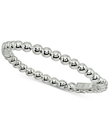 Giani Bernini Beaded Stackable Band in Sterling Silver, Created for Macy's