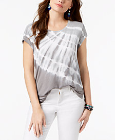 Style & Co Tie-Dyed T-Shirt, Created for Macy's