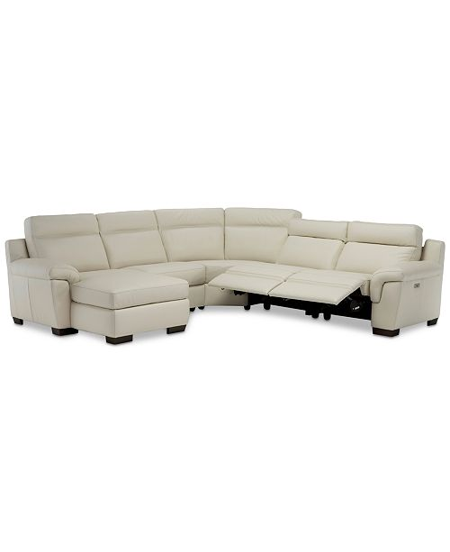 Leather Chaise Sectional Sofa