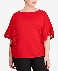Lauren Ralph Lauren Plus Size Dolman-Sleeve Top