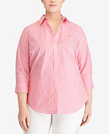 Lauren Ralph Lauren Plus Size Embroidered Shirt