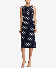 American Living Polka-Dot Sheath Dress