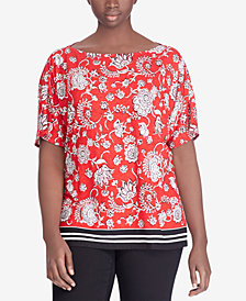 Lauren Ralph Lauren Plus Size Printed Top