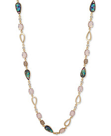"Anne Klein Gold-Tone Multi-Stone 42"" Strand Necklace"
