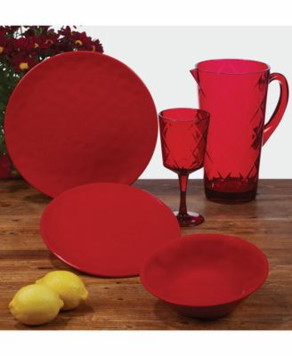 Red 12-Pc. Dinnerware Set, Service for 4