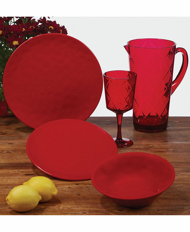 Certified International Ruby Melamine Dinnerware