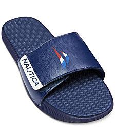Nautica Men's Racer Logo Slide Sandal