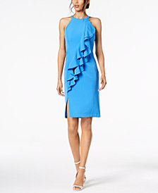 Vince Camuto Ruffled Sheath Dress