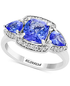 Final Call by EFFY® Tanzanite (2-3/8 ct. t.w.) & Diamond (1/5 ct. t.w.) Ring in 14k White Gold