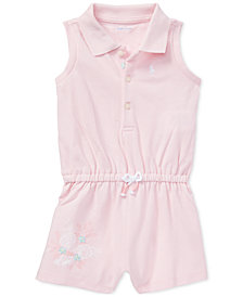 Polo Ralph Lauren Baby Girls Cotton Sleeveless Polo Romper