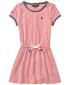 Polo Ralph Lauren Striped Cotton Jersey T-Shirt Dress, Little Girls