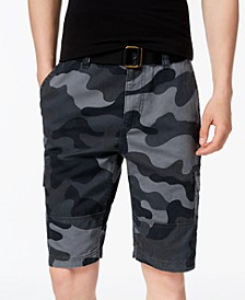 Men's Belted Relaxed Cargo Shorts, Created for Macy's