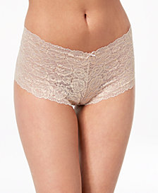 I.N.C. Embroidered Lace-Back Bra, & Boyshort, Created for Macy's