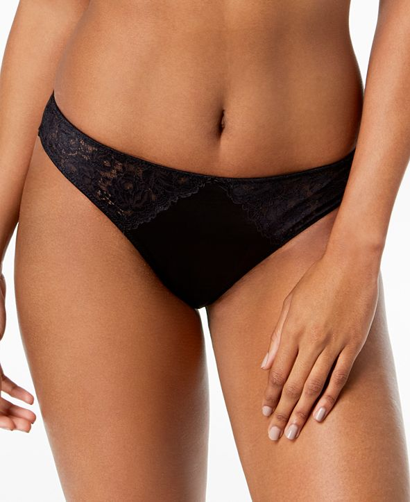 INC International Concepts INC Smooth Lace Thong, Created for Macy's