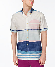 Tommy Hilfiger Men's Slim Fit Desert Sunset Shirt, Created for Macy's