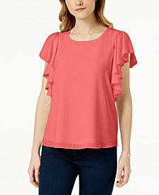 Maison Jules Ruffled Top, Created for Macy's