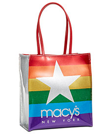 Macy's Glitter Graphic Tote Bag
