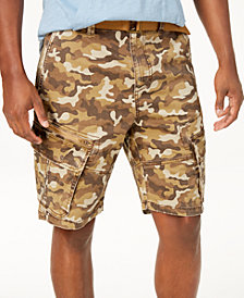 "American Rag Men's Camo Cargo 10"" Shorts, Created for Macy's"